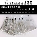 1440pcs Clear/AB Crystal DIY Flatback Glass Rhinestones for Nail Art Phone Case