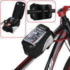 Waterproof Cycling Bike Bicycle Front Frame Pannier Tube Bag For Cell Phone