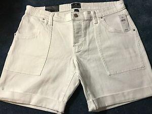 29cd813634 Image is loading GAP-Sexy-Boyfriend-White-Cuffed-Shorts-Size-12-