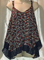 Women's Lucky Brand Handkerchief Crochet Camisole Allover Print X-large