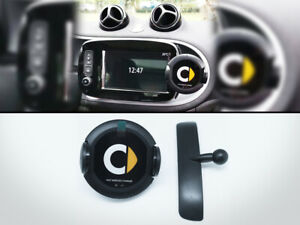 Wireless-Charger-Infrared-Phone-Holder-GPS-For-Smart-Fortwo-453-C453-Mk3