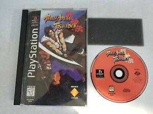 Battle Arena Toshinden PlayStation PS1 Long Box Game Mostly Complete Wtih Foam