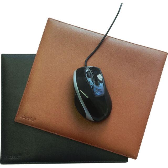 Alassio Mauspad Mousepad Mouse Pad Mausunterlage Unterlage Leder schwarz 52006