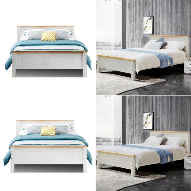 4ft Small Double Birlea Santos Solid Pine Bed 4ft6 Double 4ft Single