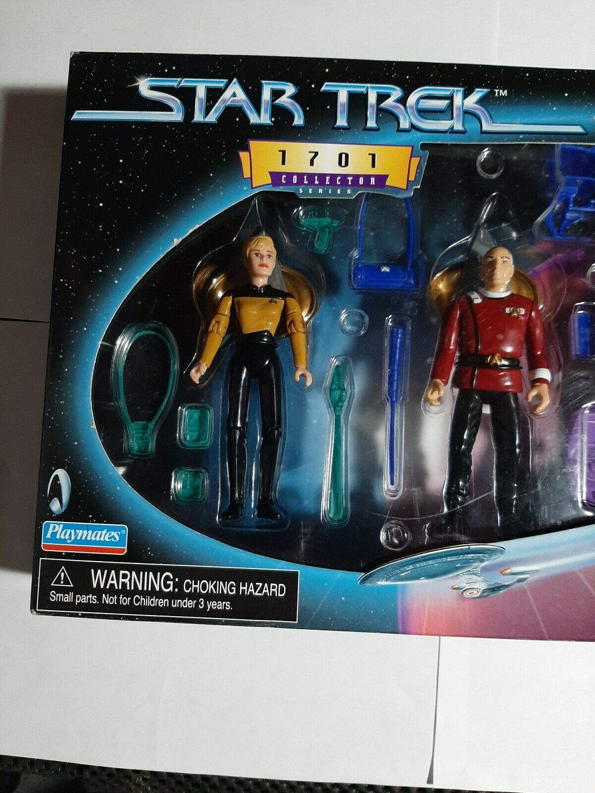 Star Trek:NEXT GENERATION Figure Set of 7 with Matching Serial Numbers SEALED!