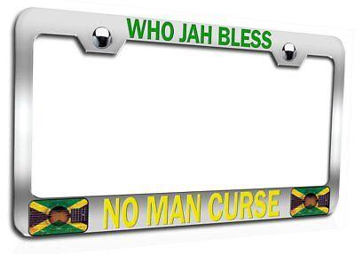 License Tag Holder JAMROCK Jamaican Ch Steel Auto SUV License Plate Frame