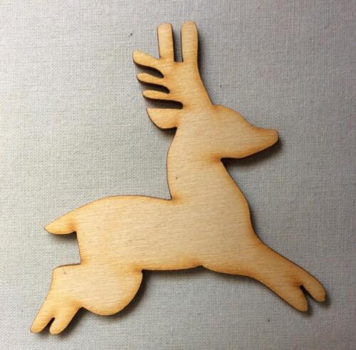10x Hirsch Tier Form Holz Basteln Bemalen Kutsche Dekoration