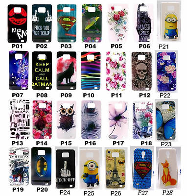 For Samsung Galaxy S2 SII i9100 Rose Superman Minions Fox Owl Hard Case Cover