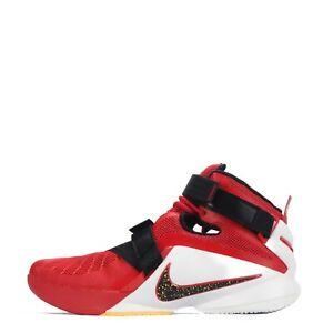 various colors 664d7 05c4e Das Bild wird geladen Nike-Lebron-Soldier-Herren-Basketballschuhe-Rot-Weiss