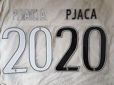 kit PERSONALIZZAZIONE nome NUMERO maglia JUVE JUVENTUS HOME AWAY PJACA 20 NERO