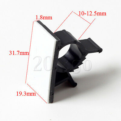10 Pcs Self-adhesive Wire Tie Mount Clamp Clip fit Cable Diameter 10-12.5mm MA