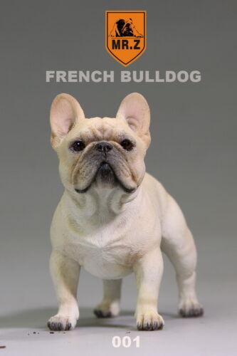 MR.Z Dog Model French Bulldog Resin Statue Cream Car Interior Decoration 001 New