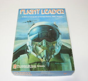 1986 FLIGHT LEADER JET COMBAT GAME AVALON HILL NEVER PLAYED - MOSTLY UNPUNCHED