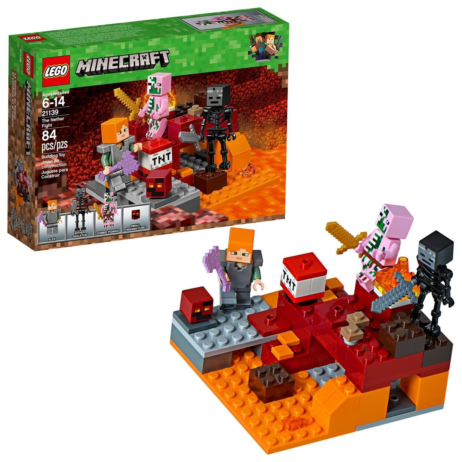 LEGO Minecraft the Nether Fight Building Kit Minifigures Set Box Sealed New Gift