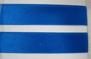2-1-2-Yards-Royal-Blue-SILK-Satin-Double-Face-Ribbon-3-4-034-Wide-Stunning