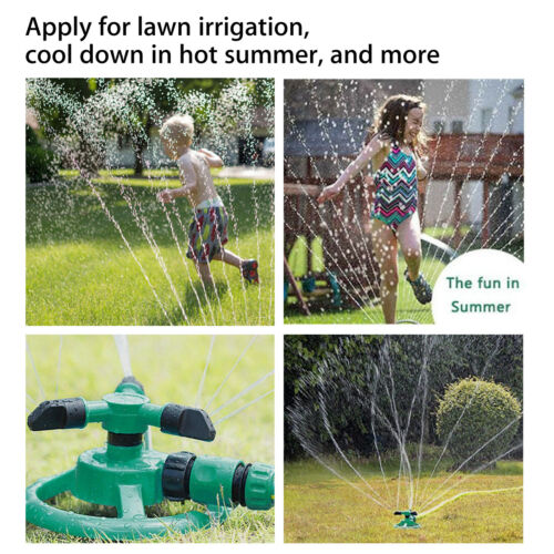 360 Degree Rotating 3-Arm Garden Sprinkler Automatic Lawn Watering System