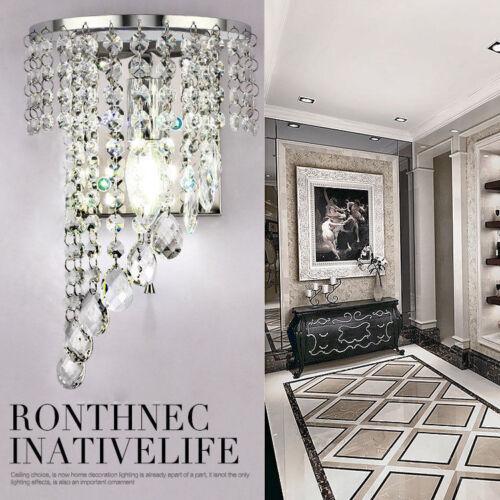 Modern Crystal Wall Lights Bedside//Aisle Lamp Sconce Wall Fixture Decor HC