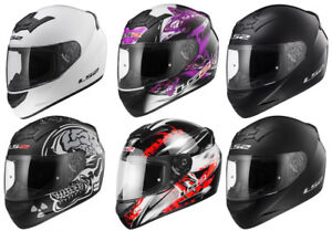LS2-FF352-FULL-FACE-MOTORCYCLE-MOTORBIKE-HELMET-SOLID-WOLF-X-RAY-FLUTTER-ROOKIE