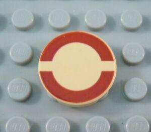 LEGO-Star-Wars-Tan-2x2-Round-Red-Semi-Circle-Tile-Part