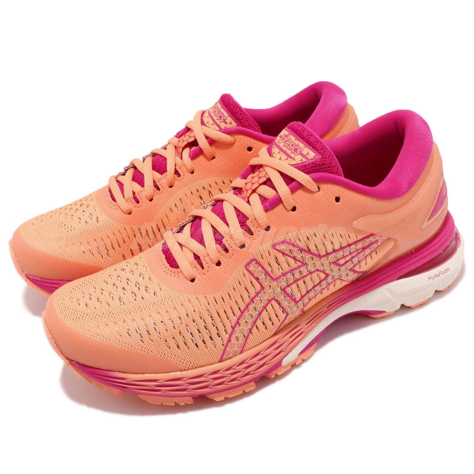 Asics Gel-Kayano 25 Orange Fuchsia Donna Running Shoes Runner 1012A02-6800