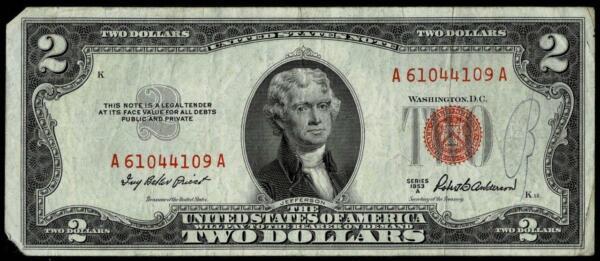 1953a Rouge Joint États-unis Notez