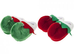 image is loading adults novelty christmas elf slippers with bell