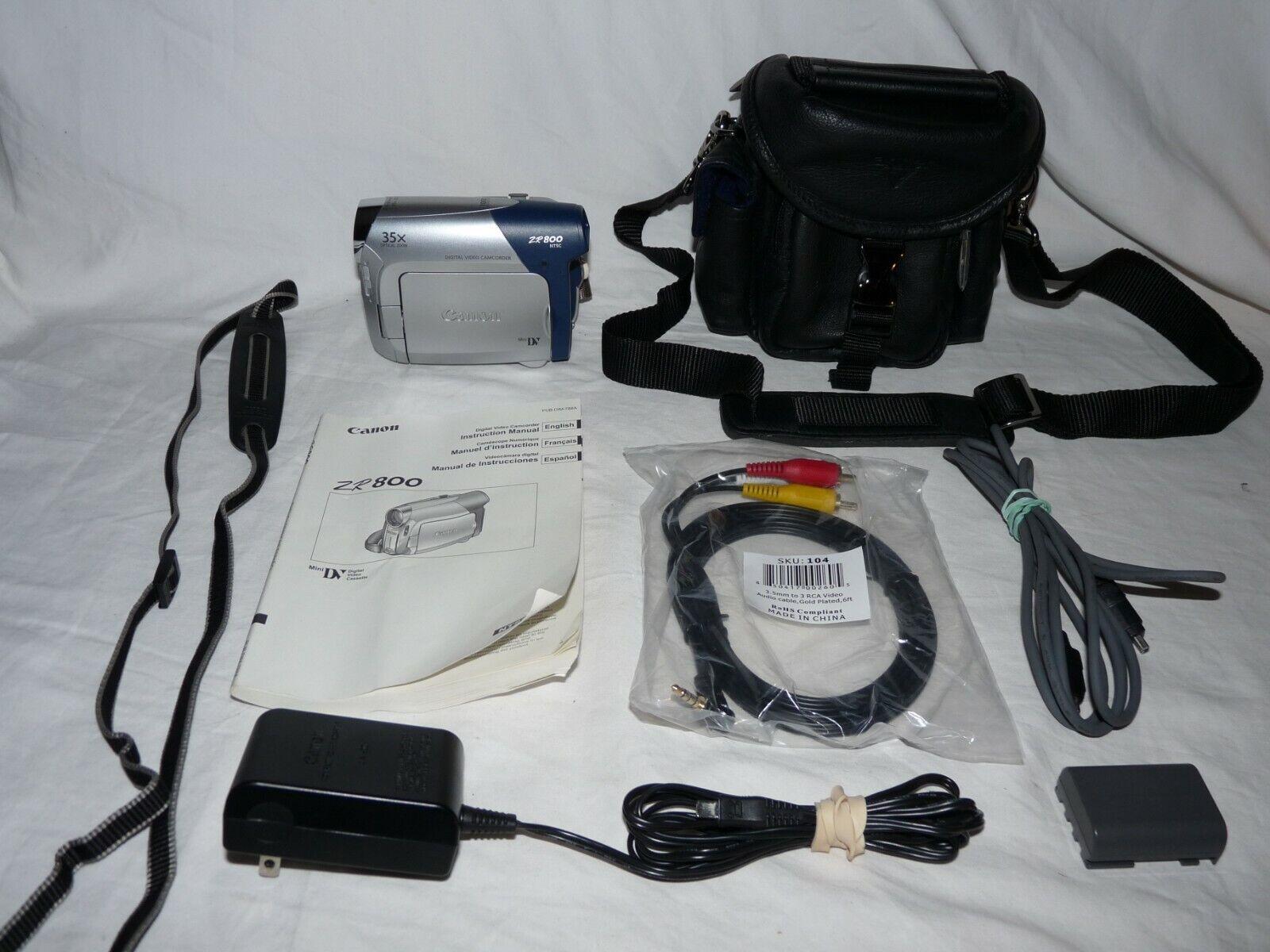 s l1600 - Canon ZR800 ZR800A MiniDv Mini Dv Stereo Camcorder VCR Player Video Transfer