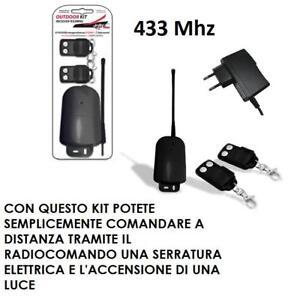 Accensione Luci Con Radiocomando.Dettagli Su Kit On Off Con 2 Telecomandi Per Accensione Luci Apriporta E Comandi A Distanza