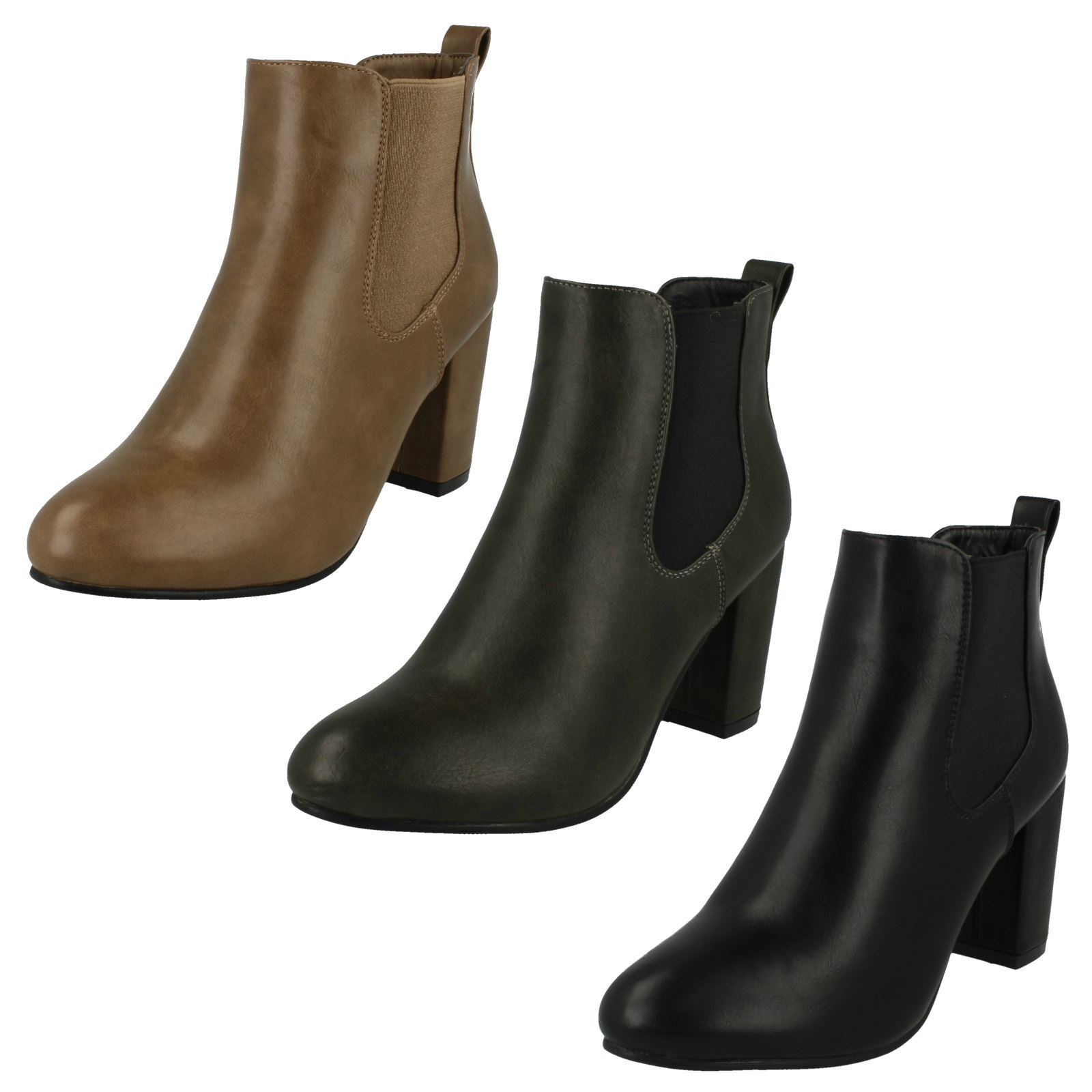 Ladies Anne Michelle Heeled Ankle 'Boots'