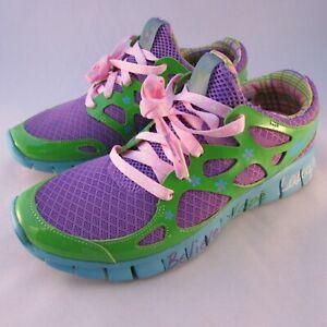 Womens-Nike-Doernbecher-Free-Run-2-Green-Purple-Blue-437527-543-Running-Shoes
