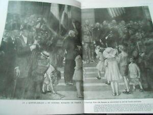 WWI-el-4-juillet-del-general-Pershing-en-Francia-Cuadro-1918-Ilustracion