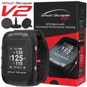 SHOT SCOPE V2 GOLF GPS WATCH & PERFORMANCE TRACKING WATCH / NEW FOR 2019 !!!!!!!