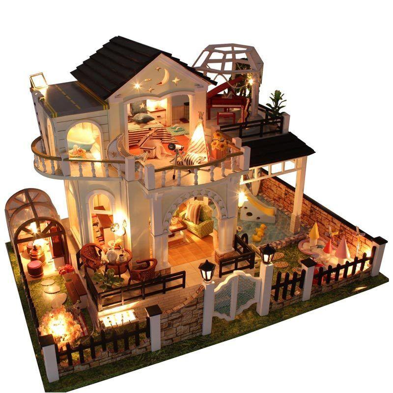 New DIY Handgefertigte Handgefertigte Handgefertigte Miniatur-jekt Holz Puppenhaus My Villa Kinder Gesch Gift    Am wirtschaftlichsten  ebacec