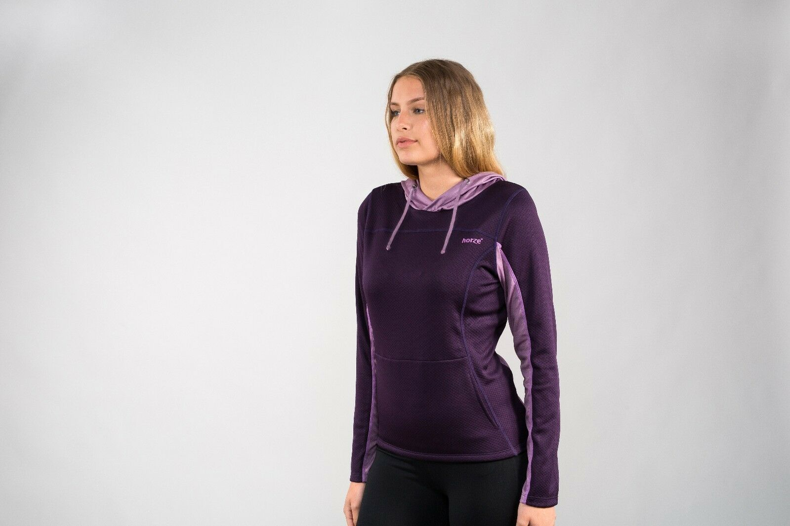 Horze Women's Ladies Luana Purple Dry Fabric Light Technical Sweatshirt Hoodie