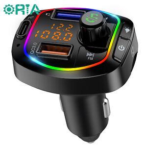 FM Transmitter Bluetooth 5.0 Wireless Car 3 USB Ladegerät Freisprecheinrichtung