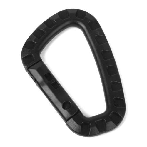 Plastic Snap Clip Hook Karabiner Hiking Hanging Keychain Buckle Carabina