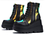 Ladies-Ankle-Boots-Womens-Goth-Punk-Lace-Up-Chunky-High-Heel-Platform-Shoes-Size thumbnail 9