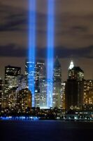 World Trade Center Tribute Lights Wtc Art Poster 24x36