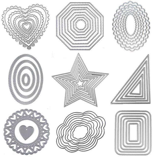 Large Lace Doily circle cut cutting stencil set fancy dies Elegant scrapbook