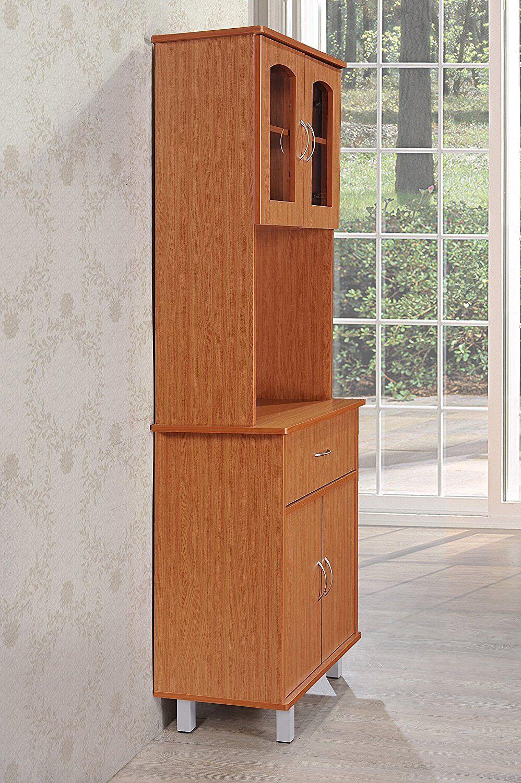 Cherry NEW HODEDAH IMPORT HID3CHERRY Hodedah 3 Door Cabinet