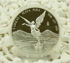 Mexico Libertad 5 Unzen oz Silber 1996 Siegesgöttin PP