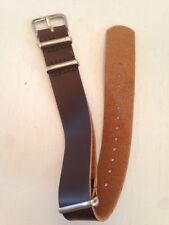 Leather Style Watch Strap 20mm Band For Timex Weekender Brown Waterbury