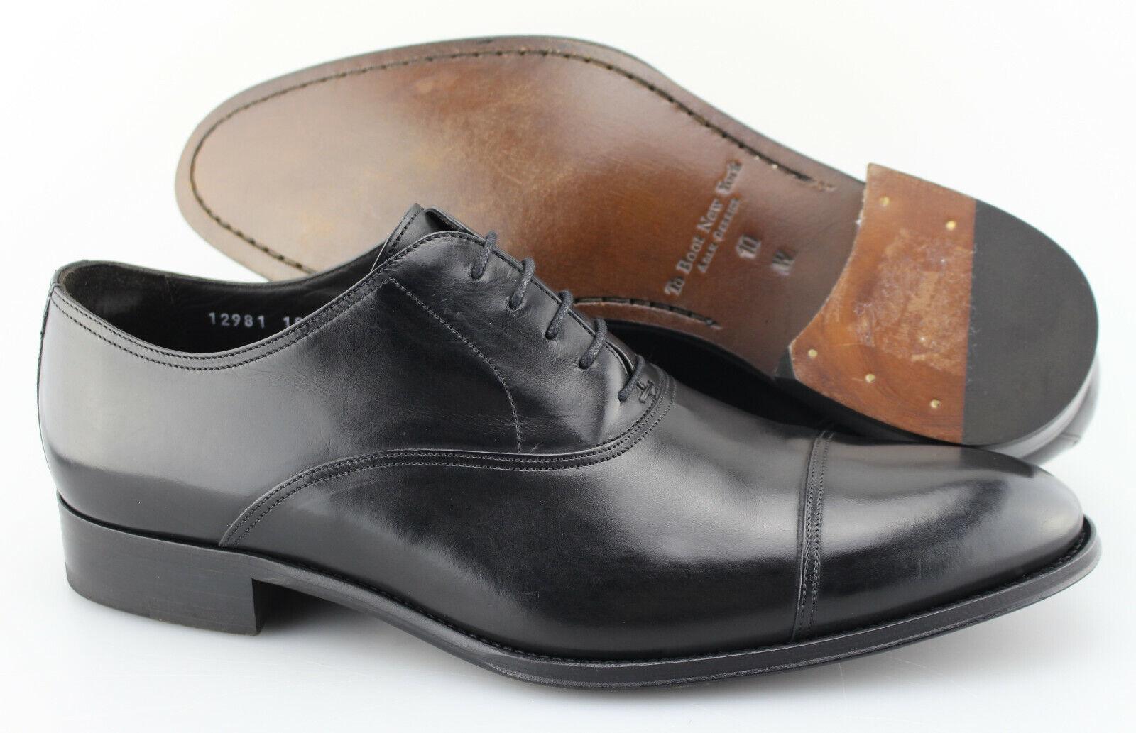 Men's TO avvio NEW YORK 'Brandon' nero Leather Cap Toe Oxfords Dimensione US 10 - W