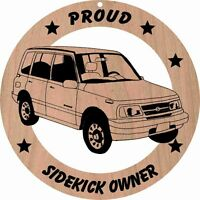 Suzuki Sidekick 4 Door Wood Ornament Engraved