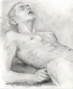 ECSTASY, drawing by The Artist Esteban 1/48/50, pencil Fress Shipping male