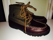 Ralph Lauren Brown Leather Loafer Boots Lorenzo Boys Youth Men's Size 5