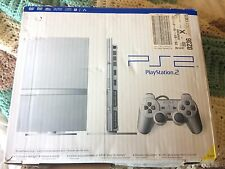 Sony PlayStation 2 Slim Launch Edition Satin Silver Console (SCPH-79001SS