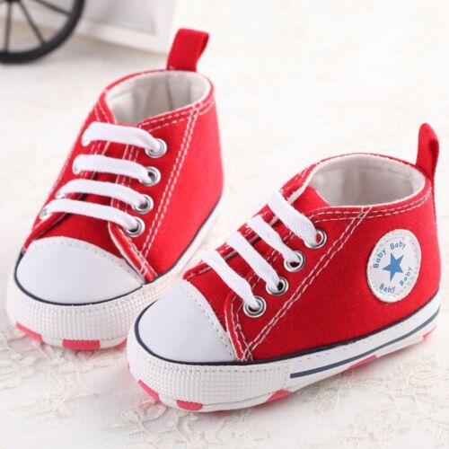 Infant Toddler Baby Boy Girl Soft Sole Crib Shoes Sneaker Prewalker 0-12 Months