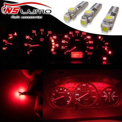3pcs T5 3 SMD 3528 LED Gauge Cluster Shifter Light Bulbs RED 74 2721 w1.2w Honda