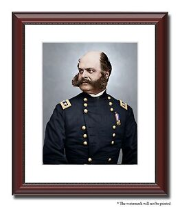 Art 1862 Dated Antique Print Ambrose Burnside Union Army General American Civil War Selected Material